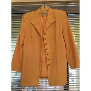 Oleg Cassini yellow blazer